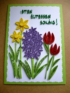 Origami And Quilling, Paper Quilling Patterns, Quilling Craft, Quilling Ideas, Spring Birds, Spring Flowers, Diy And Crafts, Paper Crafts, Quilled Creations