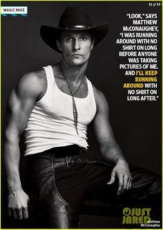 Matthew McConaughey shirtless in Magic Mike