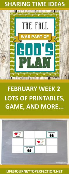 2018 Primary Sharing Time Ideas for February Week 2: The Fall was part of God's plan