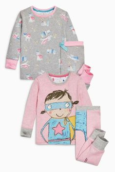 These Pink Supergirl Pyjamas are super warm and cosy and they come in a two pack!