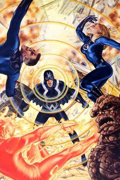 Black Bolt vs Fantastic Four by John Watson