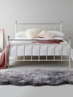 Francesca Metal Bed Frame with Mattress Options (Buy and SAVE! Room Decor Bedroom Rose Gold, Bedroom Inspo, Bedroom Inspiration, Small Double Bed Frames, Metal Double Bed Frame, 4ft Beds, Bed Frame With Mattress, Bed Frame Design, Spare Room