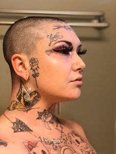 Playboy Bunny Tattoo, Bunny Tattoos, Face Tattoos, Bunny Makeup, Chest Tattoo, Body Mods, Plastic Surgery, Have A Great Day, Tattoo Images