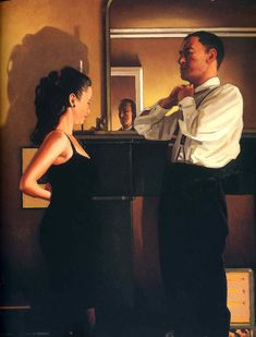 """In 2013 art critic Jonathan Jones wrote, """"Vettriano fixes on fetishistic, stylish objects and paints them with a slick, empty panache"""" (But then Jonathan thinks that Tracey Emin can draw). On 21 April 2004, the original canvas of 'The Singing Butler' sold at auction for £744,500, after it had been rejected in 1992 by the Royal Academy summer exhibition."""