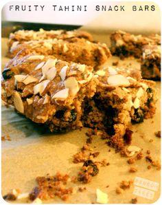 Fruity Tahini Snack Bars #vegan #glutenfree #soyfree #peanutfree http://ransomcakes.com