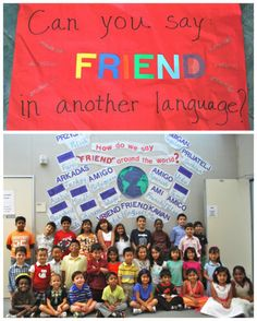 Multicultural Bulletin Board Ideas- how to say friend in any language