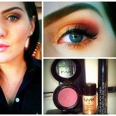 Maquiagem feita pela Nayara, do Beauty Team da NYX de Goiânia #makedodia #professionalmakeup #nyxgyn #beautyteam