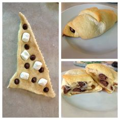 "Easy and less messy ""smores."" Use crescent rolls, chocolate chips, mini marshmallows, and some cinnamon. Easy to make and less mess! Great idea for college students."