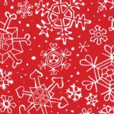 Moda Fabric Sara Khammash Penguins Pals Snowflakes red