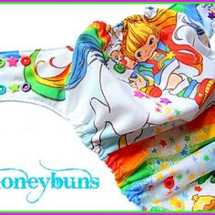 Rainbow Brite One Size Pocket cloth diaper listing today!!! Only ten will be listed.