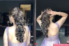 Puffy Ponytail Hairstyles That Indian Brides Are Getting Ob – WedBook High Pony Hairstyle, High Ponytail Hairstyles, High Ponytails, Sleek Hairstyles, Indian Hairstyles, Bride Hairstyles, Puffy Ponytail, Bridal Ponytail, Stylish Ponytail