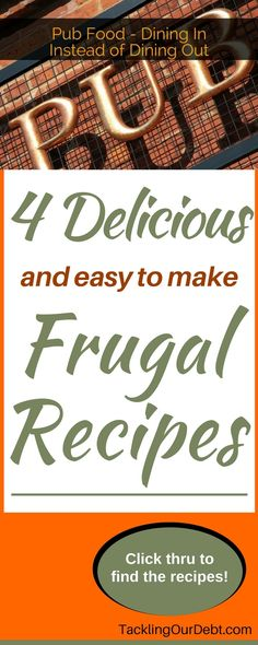 Save money by dining in while still having fun, when you make these four delicious and easy frugal recipes that the whole family will love. Click thru to find the recipes! Frugal Family, Easy Family Meals, Frugal Living Tips, Frugal Recipes, Frugal Meals, Frugal Tips, Simple Recipes, Money Saving Meals, Best Money Saving Tips