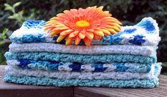 Cotton Crochet Washcloths Dishcloths by HandmadeByAnnabelle, $14.00
