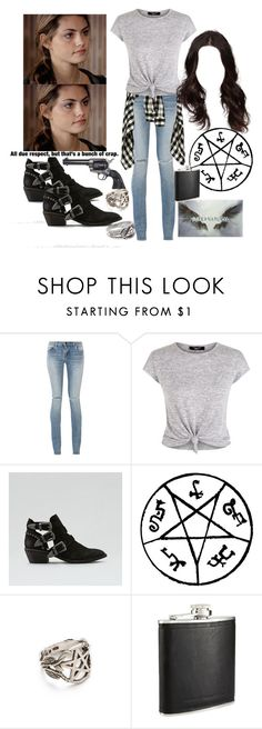 """""""SPN: OC Inspired Outfit"""" by grandmasfood ❤ liked on Polyvore featuring Yves Saint Laurent, New Look, American Eagle Outfitters, Pamela Love, French Connection and Revolver"""