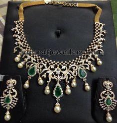 Jewellery Designs: 7 to 8 Lakhs Cute Diamond Sets