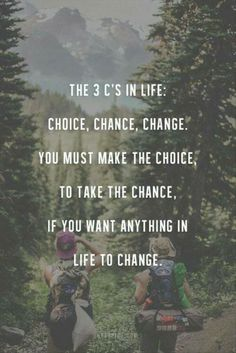 May the choices we make allow us happiness forever...
