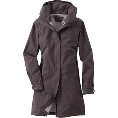 Title Nine  Oracle Rain Trench (215 CAD) ❤ liked on Polyvore featuring outerwear, coats, taupe, zip coat, zip trench coat, hooded coat, hooded trench coats and trench coat