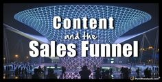 Understanding the sales funnel and how to easily improve your content to improve your conversion rates.  sales funnel, content marketing, conversions