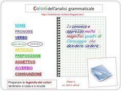 Tutti a bordo - dislessia: I colori dell'analisi grammaticale