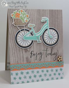 Stampin' Up! Bike Ride in Pool Party – Stamp With Amy K