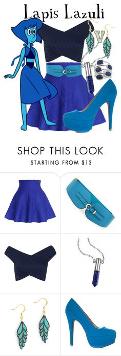 """Lapis Lazuli (Steven Universe)"" by fabfandoms ❤ liked on Polyvore featuring Chicwish, Cuteberry, Miss Selfridge and MANOLO"