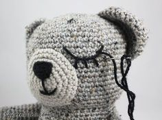 How to embroider . How To Add Faces To Your Amigurumi Part 3: Sleepy Face - Step 8