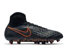 quality design c2a1a db723 Nike Magista Obra II AG-PRO Chaussure Officiel Nike de football à crampons  pour terrain synthétique pour Homme Noir Noir