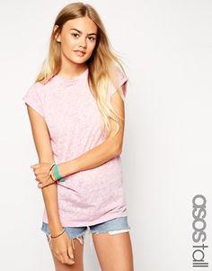 ASOS TALL Exclusive Boyfriend T-Shirt In Burnout
