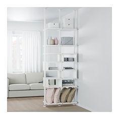 ELVARLI 2 section shelving unit, white - IKEA
