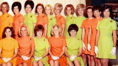 National Airlines Stewardesses 1969 Airline Uniforms, Airline Tickets, Aircraft Images, National Airlines, Intelligent Women, Cabin Crew, Flight Attendant, Jfk, World Of Fashion