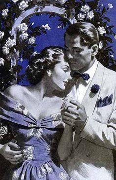 Rhapsody in Blue...ca. 1950s.