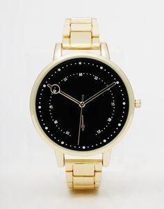 Boyfriend gold watch #jewelry #miamistyle