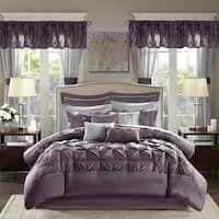 Shop Gracewood Hollow Maqqari Dark Blue 11-piece Bed in a Bag Comforter Set - On Sale - Overstock - 19972935 - Queen Room In A Bag, Bed In A Bag, King Comforter Sets, Bedding Sets, Teal Bedding, Navy Comforter, Bago, Flat Sheets, California King