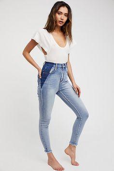 OneTeaspoon - Super high rise skinny jeans featured in a ultra-stretchy denim.  http://spotpopfashion.com/trend-spotters/jonny-chronnic-denim-trend-spotter/?utm_content=bufferfd49b&utm_medium=social&utm_source=pinterest.com&utm_campaign=buffer