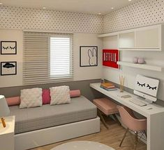 Fantastic College Bedroom Decor Ideas And Remodel 80 Fantastic Small Apartment Bedroom College Design Ideas And Decor inside [keyword Small Apartment Bedrooms, Small Room Bedroom, Small Apartments, Girls Bedroom, Master Bedroom, College Bedrooms, Small Spaces, Blue Bedroom, Bed Room