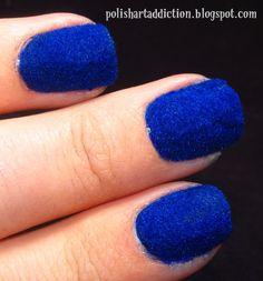 I just did this in navy blue! Velvet Nails, Nail Mania, The Claw, Powder Nails, Christmas Nail Art, Nail Art Galleries, Cool Nail Designs, Blue Velvet, Hair Dos