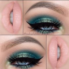 """""""@makeupbytaren in the perfect makeup look for a mermaid on St. Patrick's Day She used the 35S and 35N palettes for her shadows! Shop these…"""""""