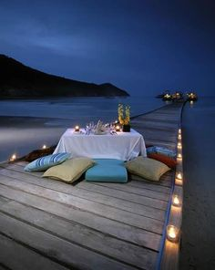 Romantic dinner at The Taaras in Pulau Redang Island, Malaysia