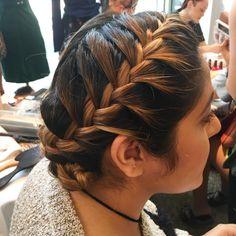 Ombré crown braid. Hair by SALON by milk + honey.