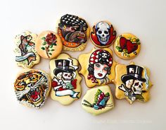 Ed Hardy Tattoo Cookies http://cookieconnection.juliausher.com/