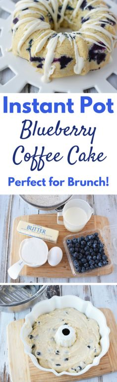 Make this delicious Instant Pot Blueberry Coffee Cake a part of your family's morning routine. It's delicious, simple to make and guests always want more!
