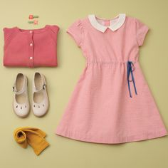 Cute adorable pink outfit for kids by Olive Juice