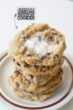 momofuku milk bar cornflake marshmallow chocolate chip cookies butter with a side of bread