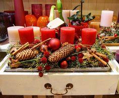 Advent Kerzentablett für vier Kerzen