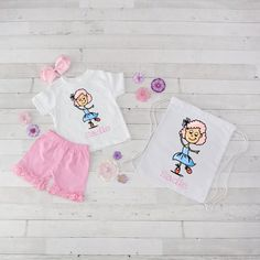 Ballerina - 4pc Personalized Shirt, Short and Bag Set