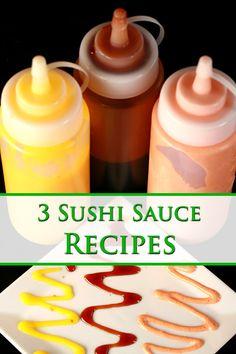 Eel Sauce Recipe, Sauce Recipes, Cooking Recipes, Mango Sushi, Sushi Roll Recipes, Sushi Stacks Recipe, Cooked Sushi Recipes, Diy Sushi, Sushi Ideas