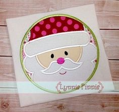 Santa Circle Applique - 4 Sizes! | Christmas | Machine Embroidery Designs | SWAKembroidery.com Lynnie Pinnie