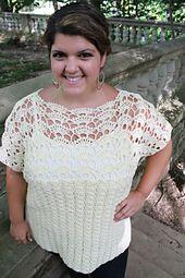 Ravelry: [Plus Size] Coraline Top pattern by Abigail Haze