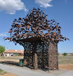 Metal Tree Bus Stop, Santa Fe