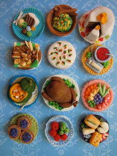 Thanksgiving and Christmas Dinner Cupcake Toppers